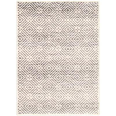 Ember Cream 3 ft. 11 in. x 5 ft. 7 in. Border Area Rug