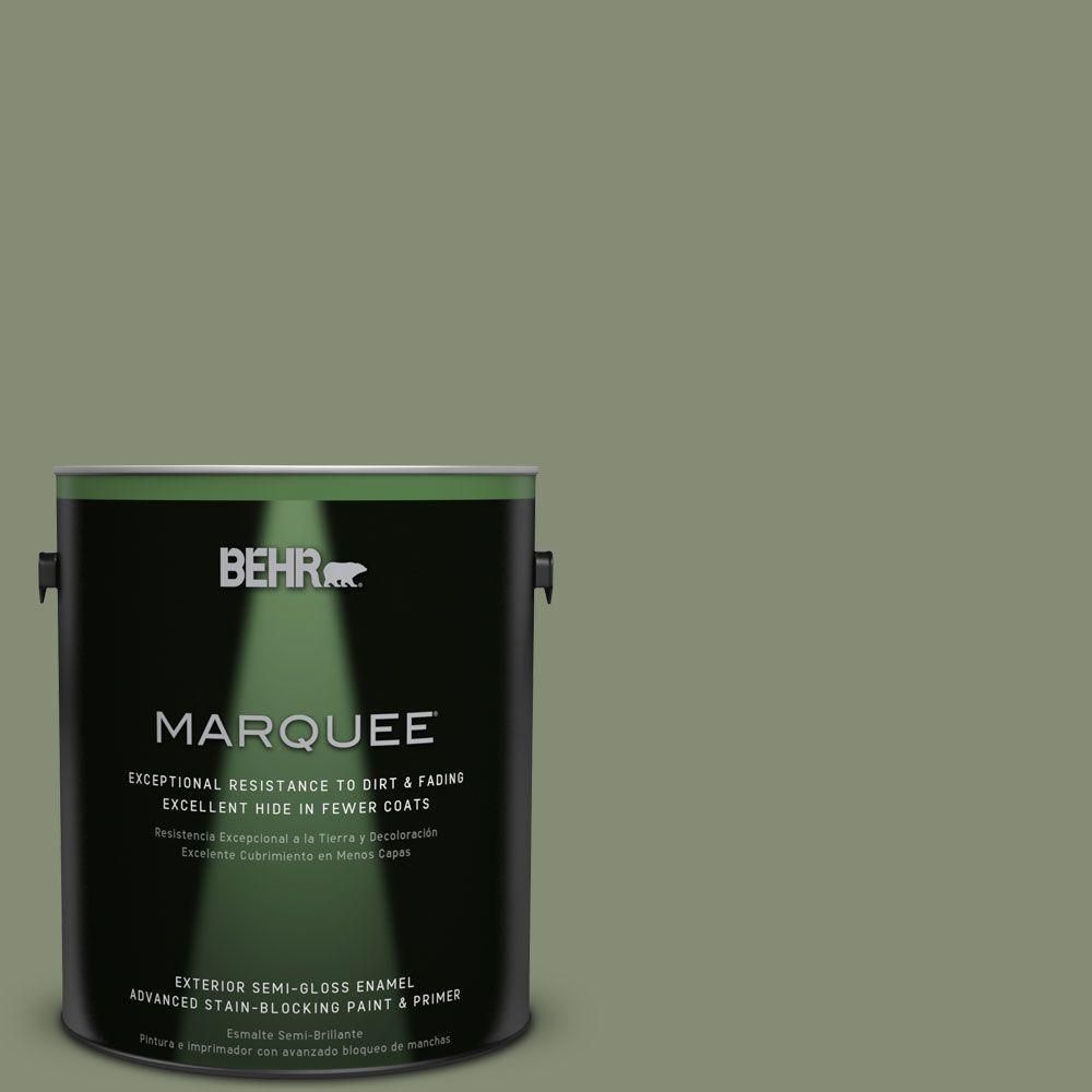 BEHR MARQUEE 1-gal. #PPU10-17 Aloe Thorn Semi-Gloss Enamel Exterior Paint