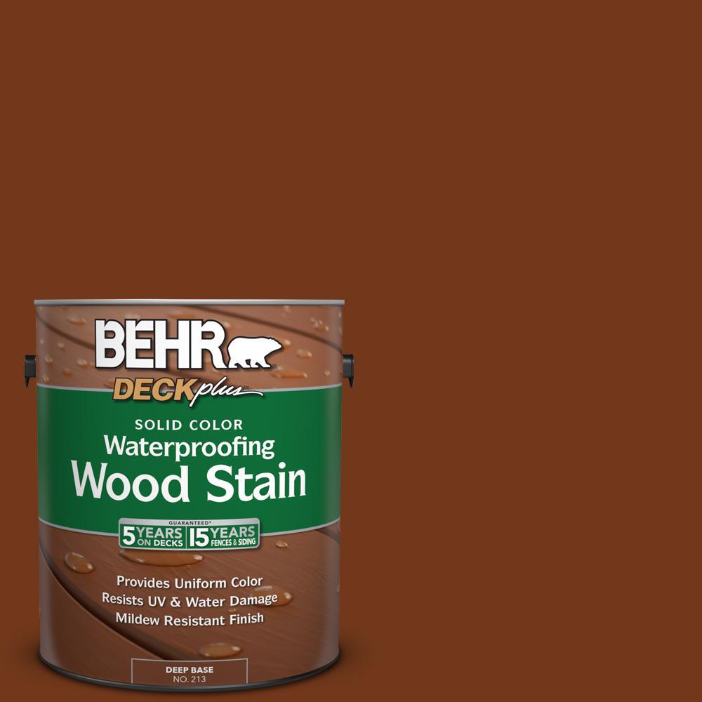 BEHR DECKplus 1 Gal SC 130 California Rustic Solid Color Waterproofing Exterior Wood
