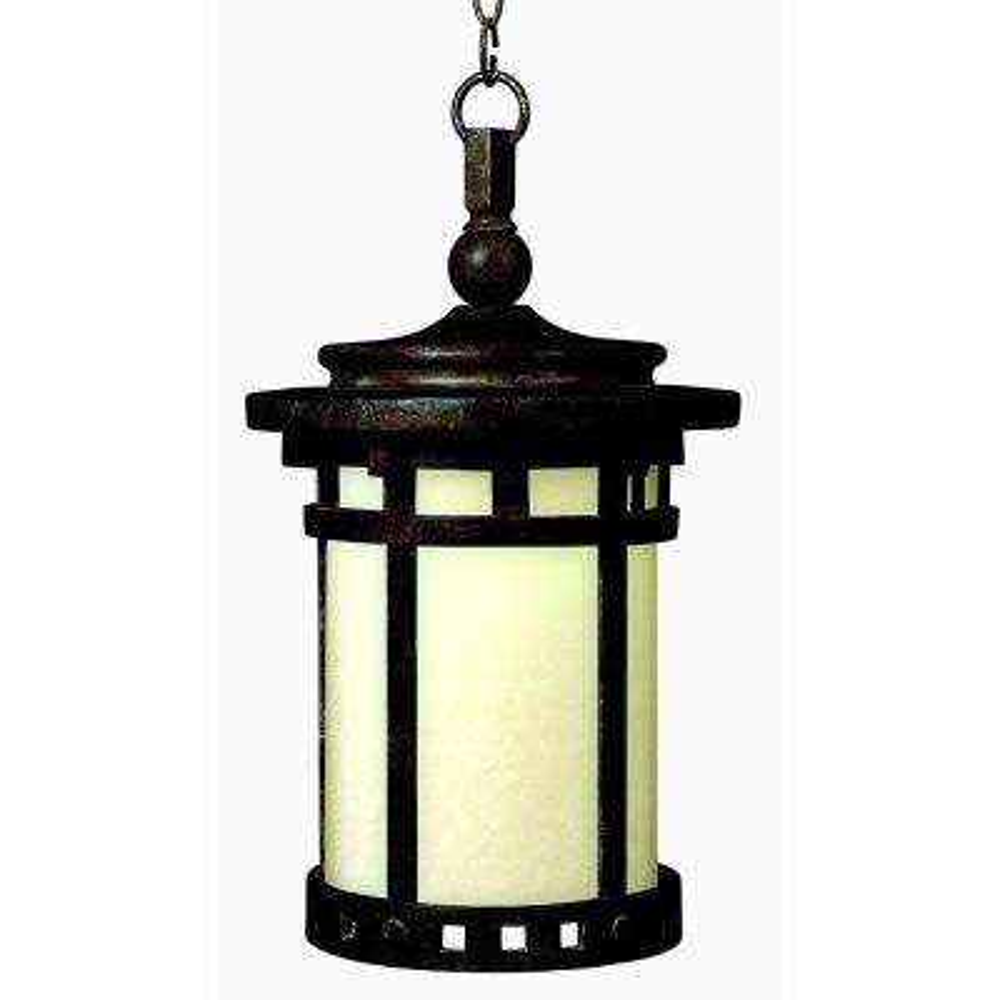 Santa Barbara 9 in. Wide Sienna 1-Light Outdoor Hanging Lantern
