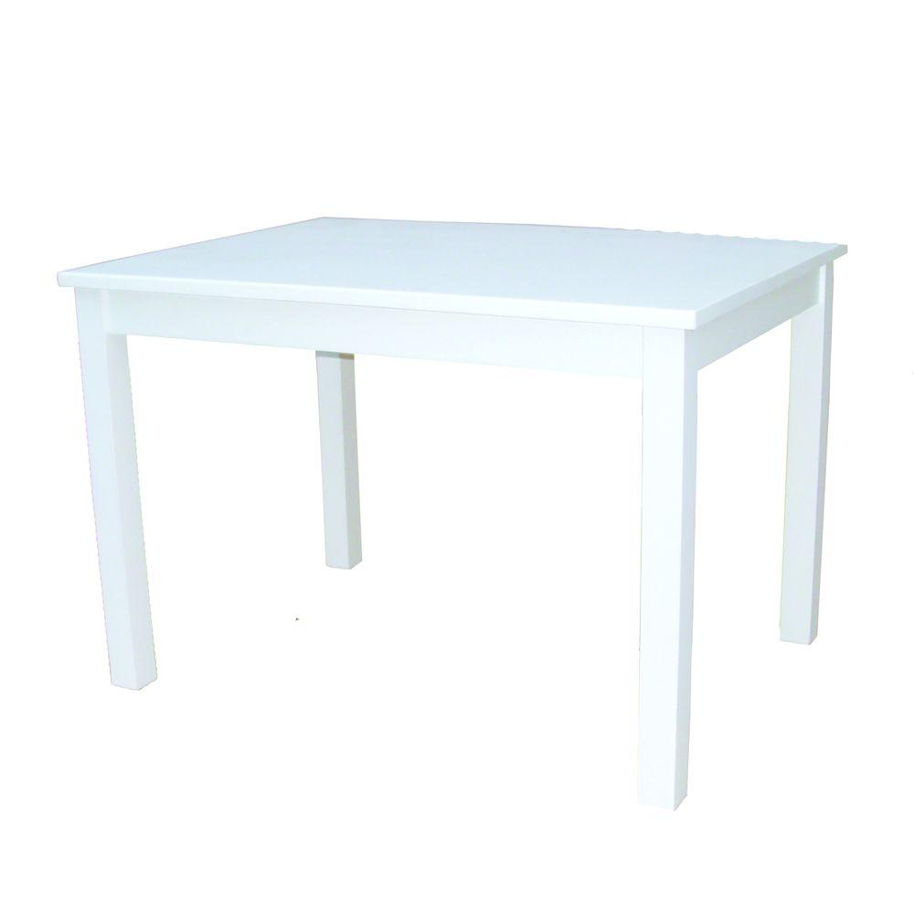Linen White Solid Wood Kid's Table