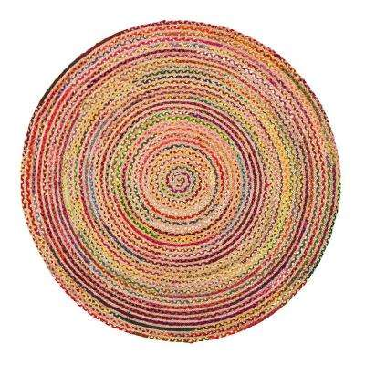Merida Multicolored 8 ft. Round Area Rug