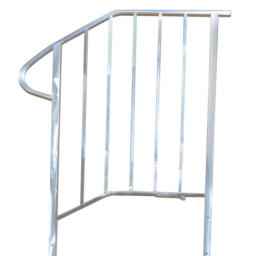 7 in. x 2 in. x 55 in. Aluminum Fence Railing