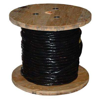 500 ft. 6 Black Stranded AL USE-2 Cable