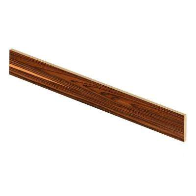 African Wood Dark 47 in. Long x 1/2 in. Deep x 7-3/8 in. Height Vinyl Riser to be Used with Cap A Tread