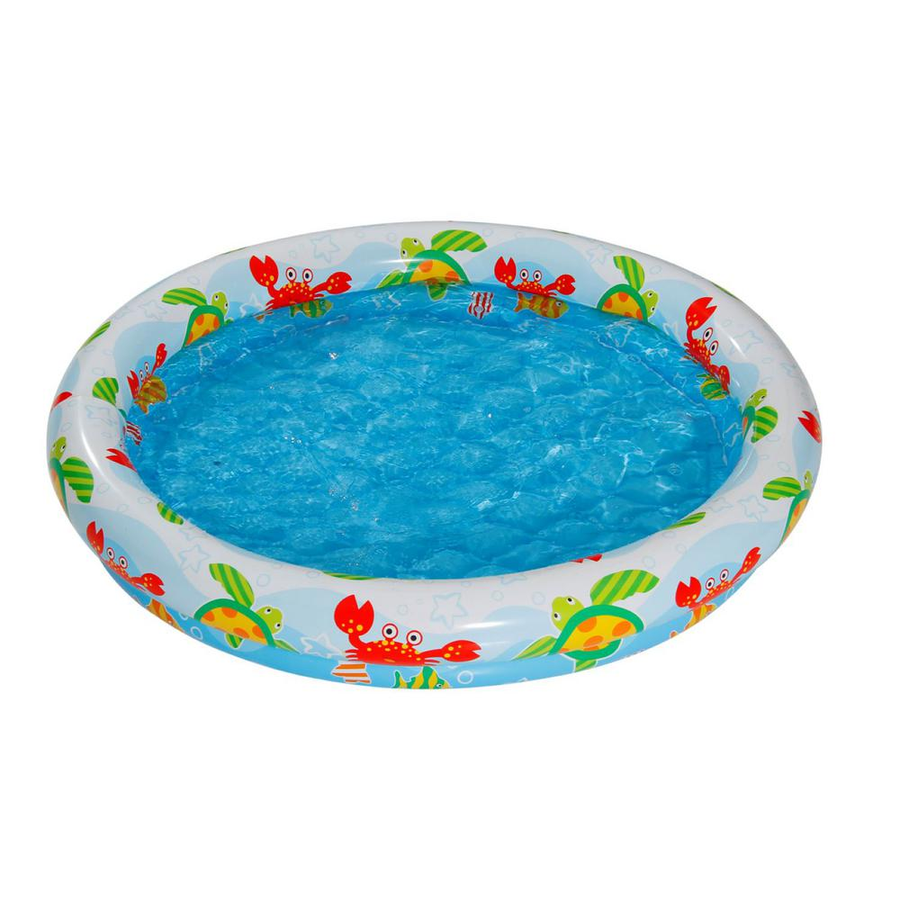 Summer waves ocean theme 48 in x 10 in d round above for Plastik pool rund