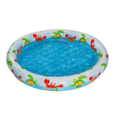 Ocean Theme 48 in. x 10 in. D Round Above Ground Kiddie Pool