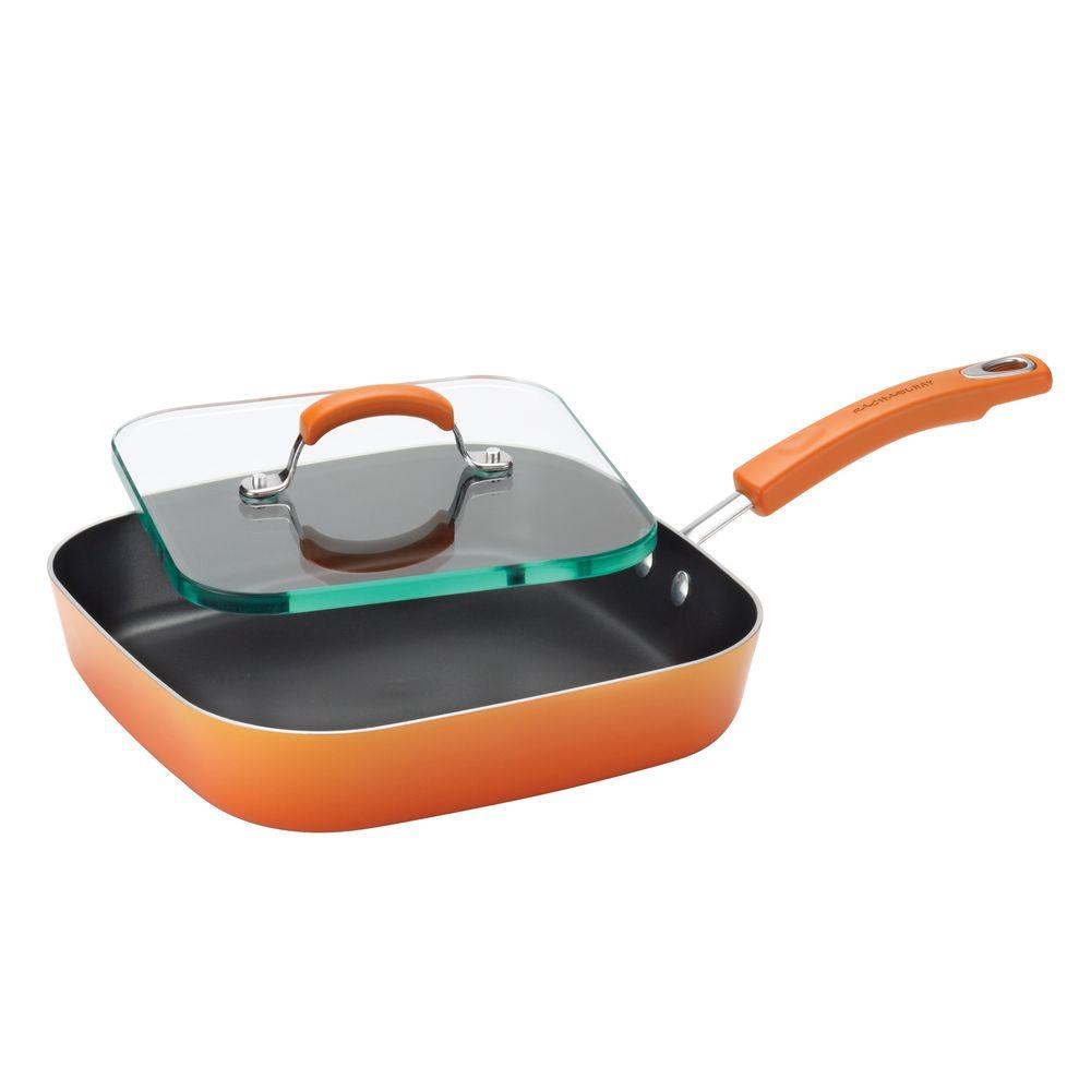 RachaelRay Rachael Ray Aluminum Grill Griddle with Nonstick Coating