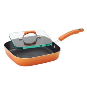 Click here to buy Rachael Ray Aluminum Grill Griddle with Nonstick Coating by Rachael Ray.