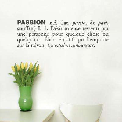 (31 in x 10 in) Passion (french) Wall Decal
