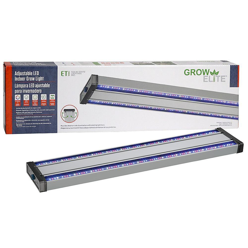 Indoor Grow Lights Home Depot: ETi Grow Elite Brushed Nickel Integrated LED 72-Watt