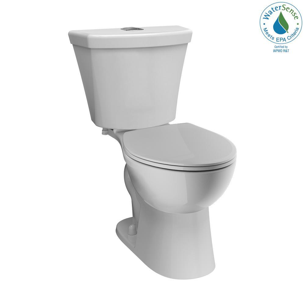 delta turner 2-piece 1.1 gpf/1.6 gpf dual flush round front toilet in white