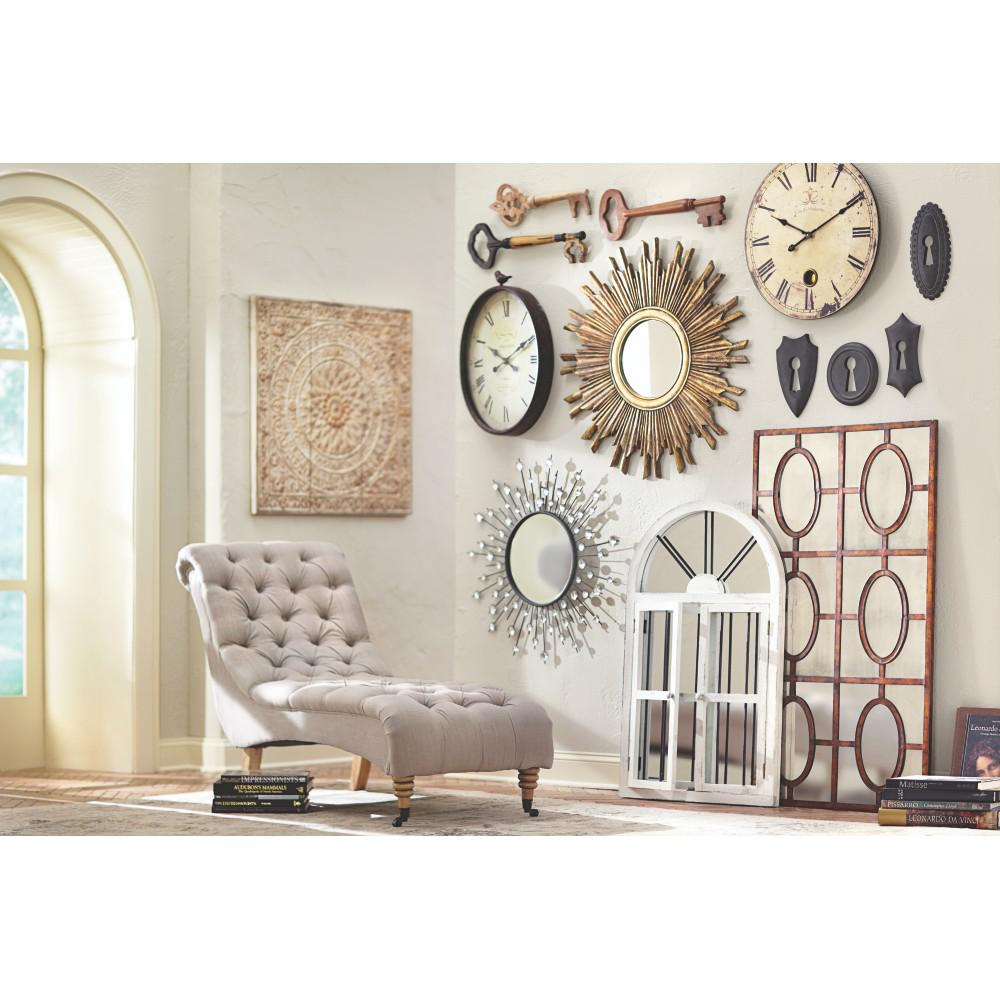 amaryllis metal wall decor in distressed cream 0729400440 the home depot. Black Bedroom Furniture Sets. Home Design Ideas