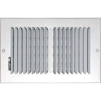 6 in. x 12 in. Ceiling/Sidewall Vent Register, White with 2-Way Deflection