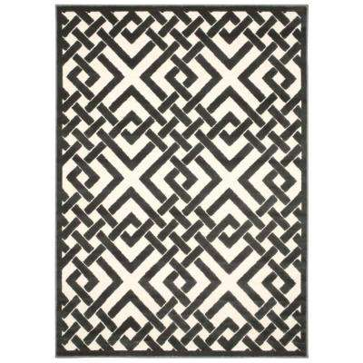 Ultima Ivory/Grey 5 ft. 3 in. x 7 ft. 3 in. Area Rug