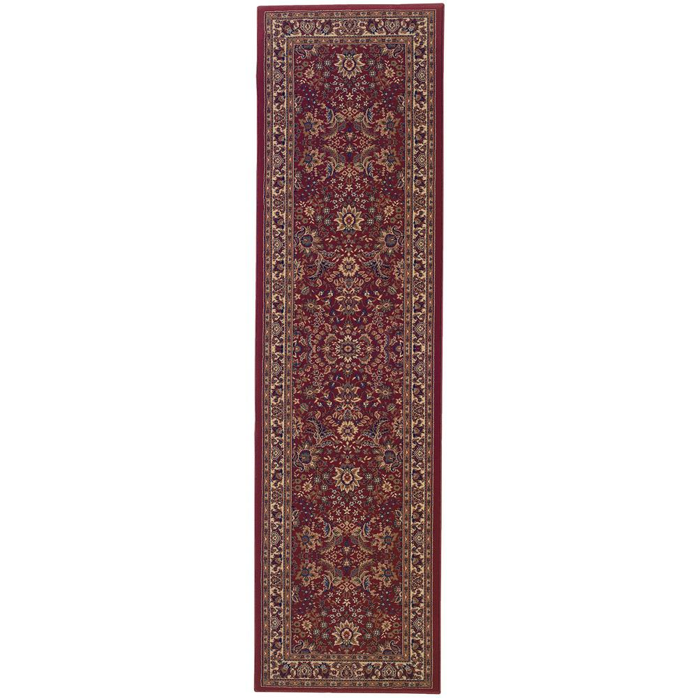 Home Decorators Collection Westminster Red 2 Ft X 8 Ft Runner Rug 0387580110 The Home Depot