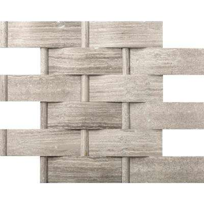 Limestone Gray Honed 12.01 in. x 12.01 in. x 16mm Limestone Mesh-Mounted Mosaic Tile (1 sq. ft.)