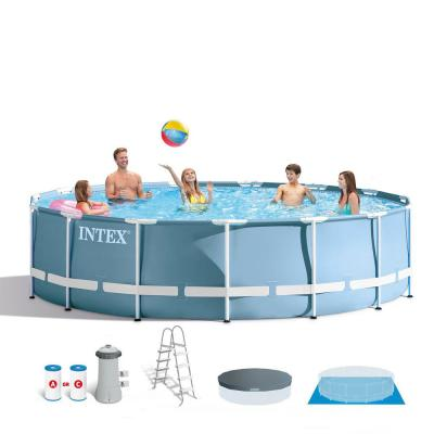 15 ft. x 42 in. Deep Steel Framed Soft Sided Round Above Ground Swimming Pool