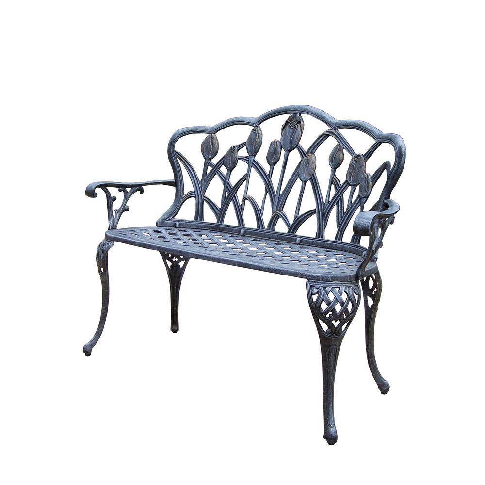 Miraculous Tulip Cast Aluminum Outdoor Loveseat Bench Andrewgaddart Wooden Chair Designs For Living Room Andrewgaddartcom