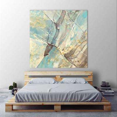 """54 in. x 54 in. """"Blue Water II"""" by Albena Hristova Printed Framed Canvas Wall Art"""