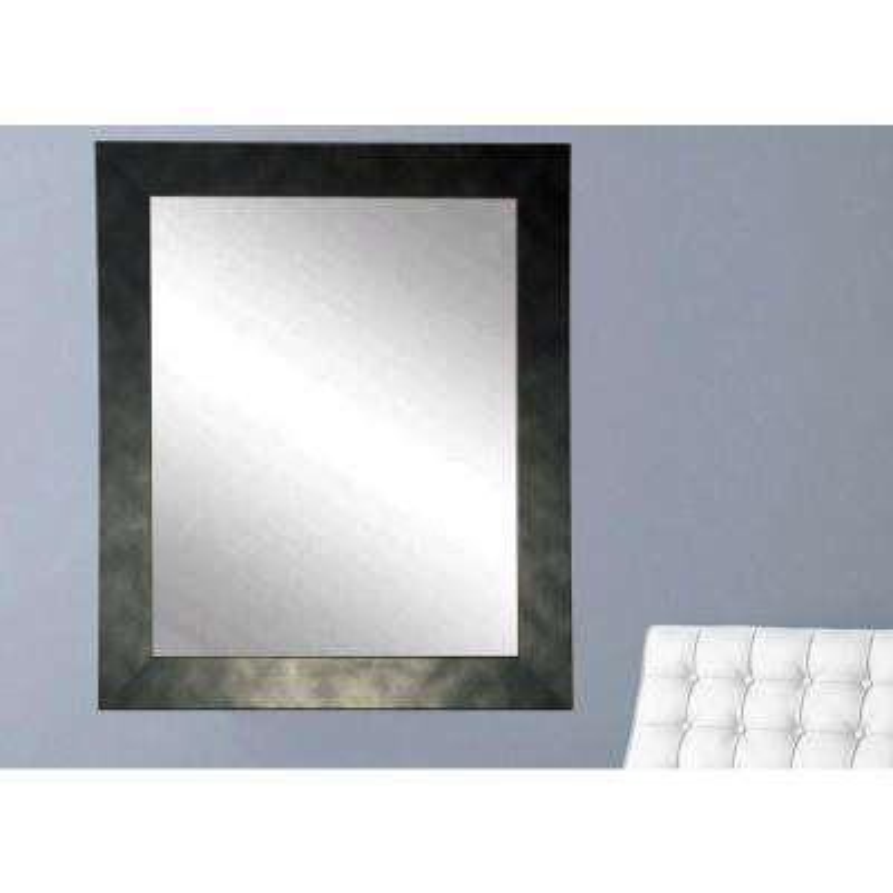 Clouded Gunmetal Black Wall Mirror