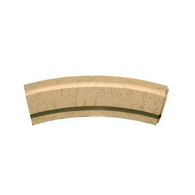 27-3/4 in. Inside Width x 11-1/4 in. Height x 2-5/8 in. Polyurethane Stone Texture Arched Trim Block