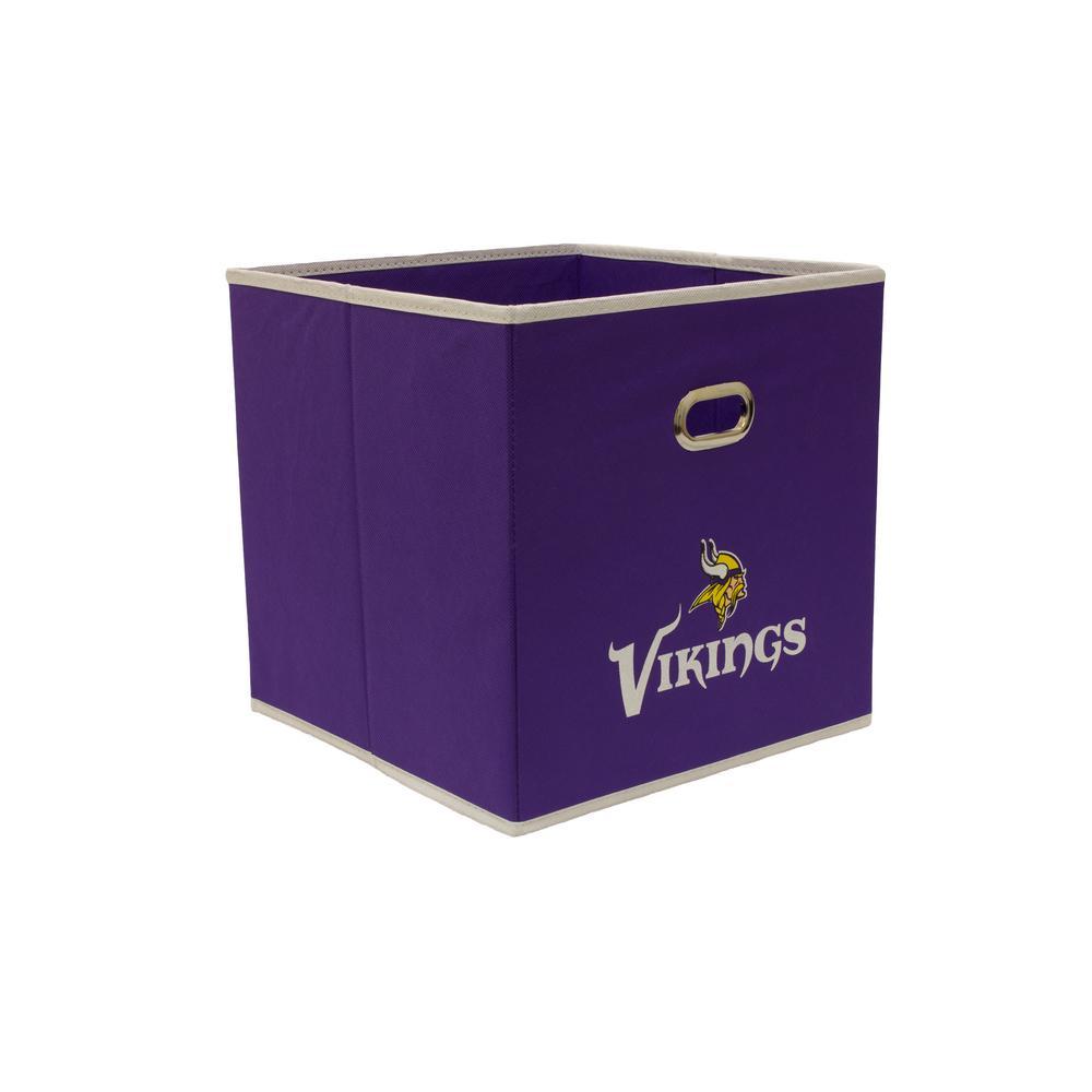 Minnesota Vikings NFL Store-Its 10-1/2 in. W x 10-1/2 in. H x 11 in. D Purple Fabric Drawer
