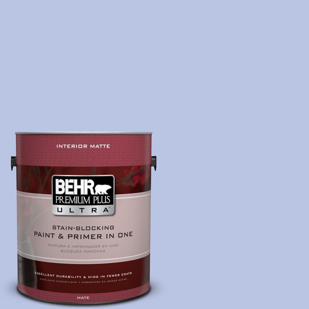 BEHR Premium Plus Ultra 1 gal. #600A-3 California Lilac Flat/Matte Interior Paint