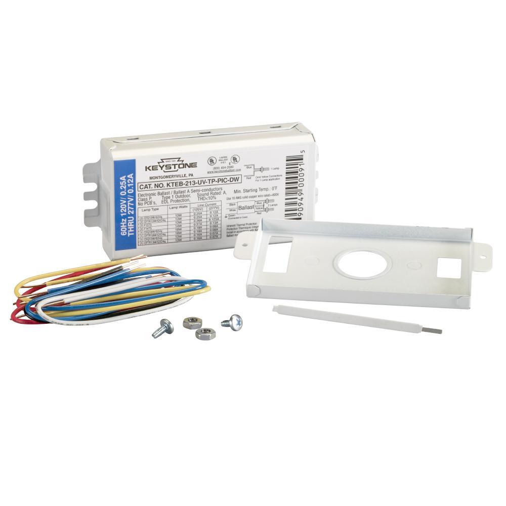 13-Watt 1 or 2-Lamp CFL Rapid Start Electronic Fluorescent Replacement Ballast