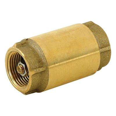 3/4 in. Brass In-Line Check Valve