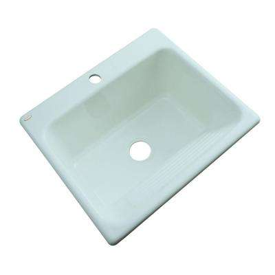 Kensington Undermount Acrylic 25 in. Single Bowl Utility Sink in Seafoam Green