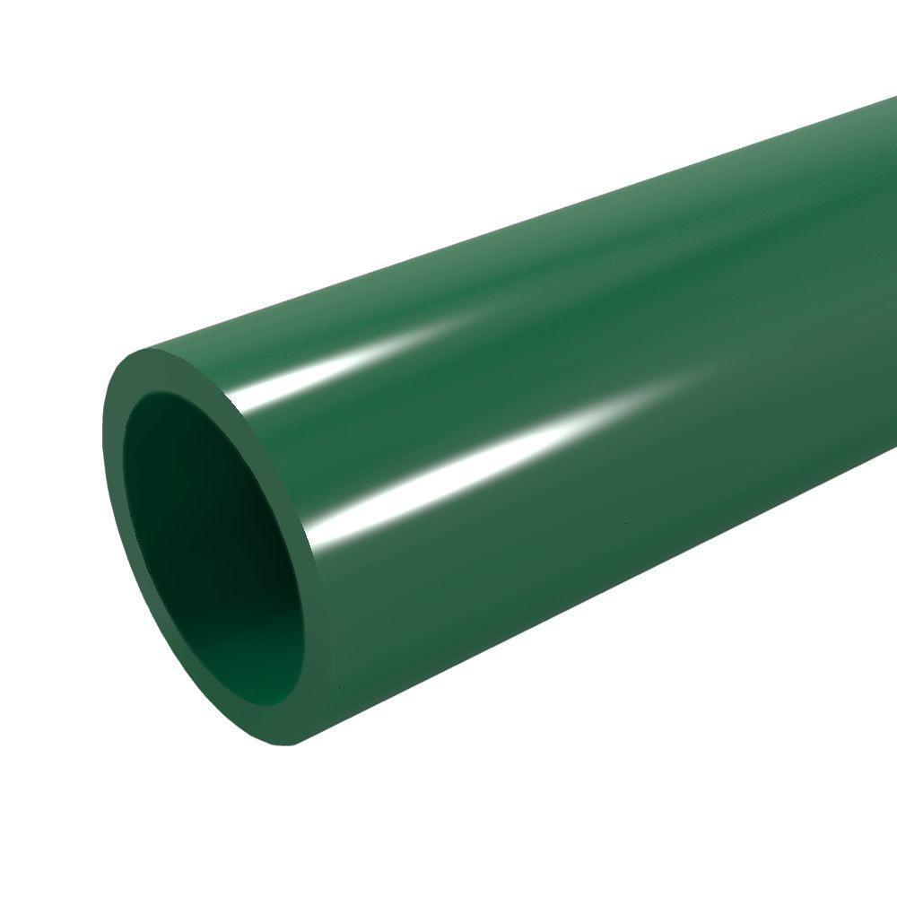 1 in. x 5 ft. Furniture Grade Sch. 40 PVC Pipe in Green