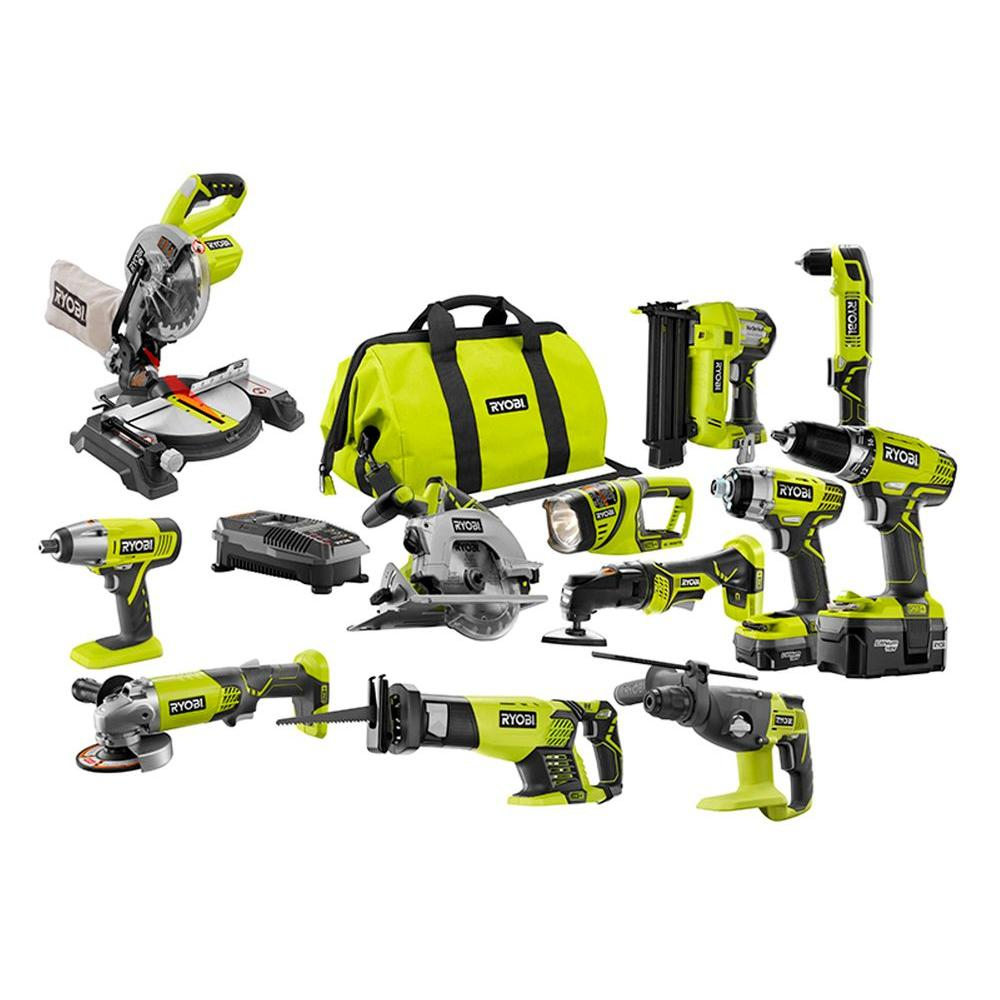 Ryobi One+ 18-Volt Lithium-Ion All-in-1 Do It Yourself Co...