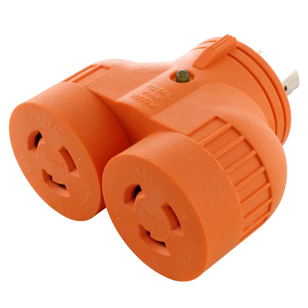 Compact Industrial//Generator Adapter NEMA L6-30P to NEMA L14-30R by AC WORKS™