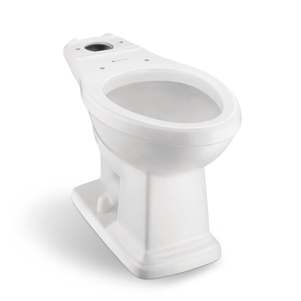 Glacier Bay Designer 2-Piece 1.28 GPF Elongated Toilet Bowl Only in White
