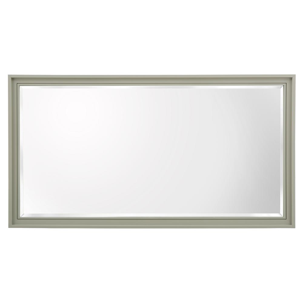 Shaelyn 60 in. W x 32 in. H Framed Wall Mirror in Sage Green