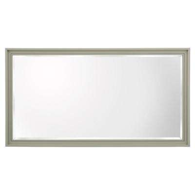 Shaelyn 60 in. W x 32 in. H Framed Wall Mirror in Sage Green