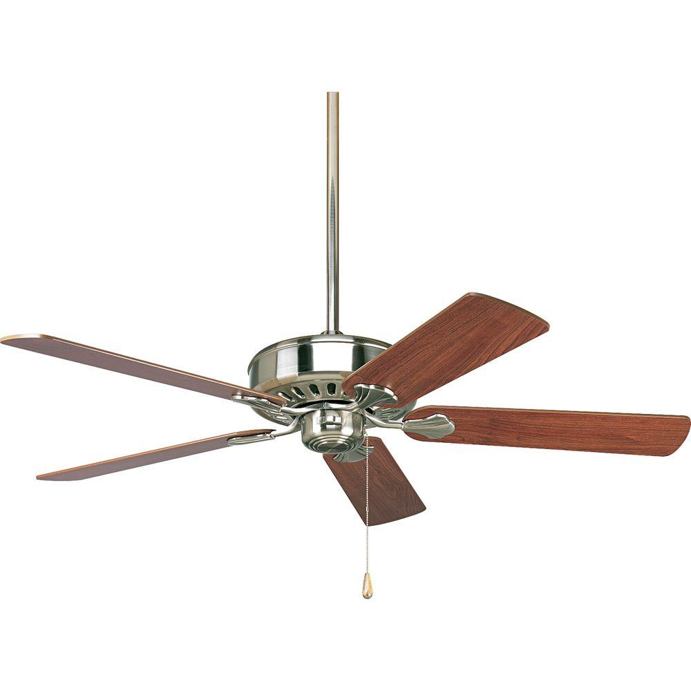 Progress Lighting AirPro Performance 52 in. Indoor Brushed Nickel Ceiling Fan