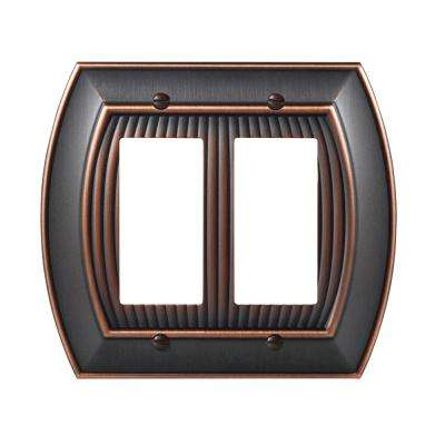 Sea Grass 2-Rocker Wall Plate, Oil-Rubbed Bronze