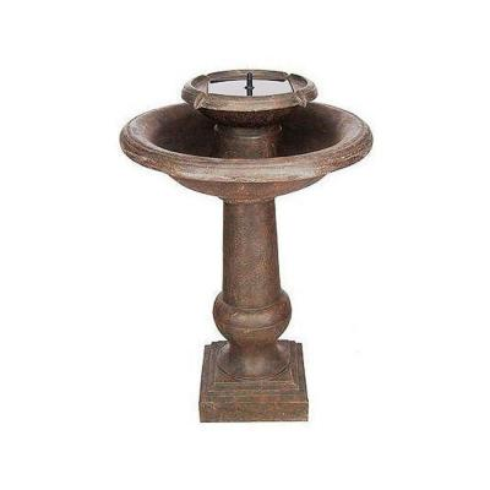 Chatsworth Antique Bronze Two-Tier Solar on Demand Fountain