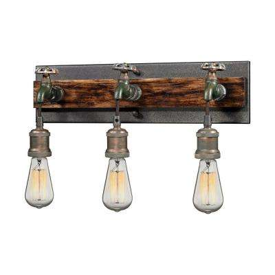 Jonas 3-Light Multi-Tone Weathered Wall Sconce