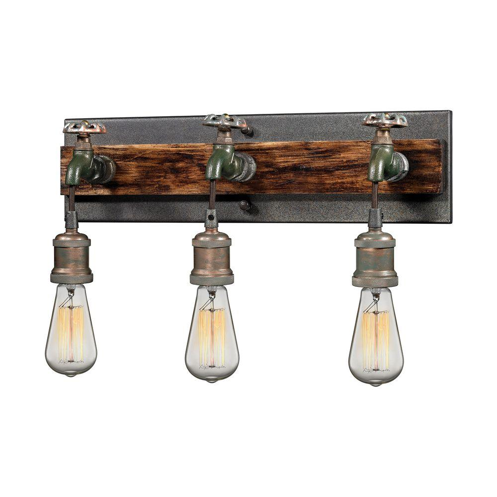 electric wall sconces modern lighting. Titan Lighting Jonas 3-Light Multi-Tone Weathered Wall Sconce Electric Sconces Modern R