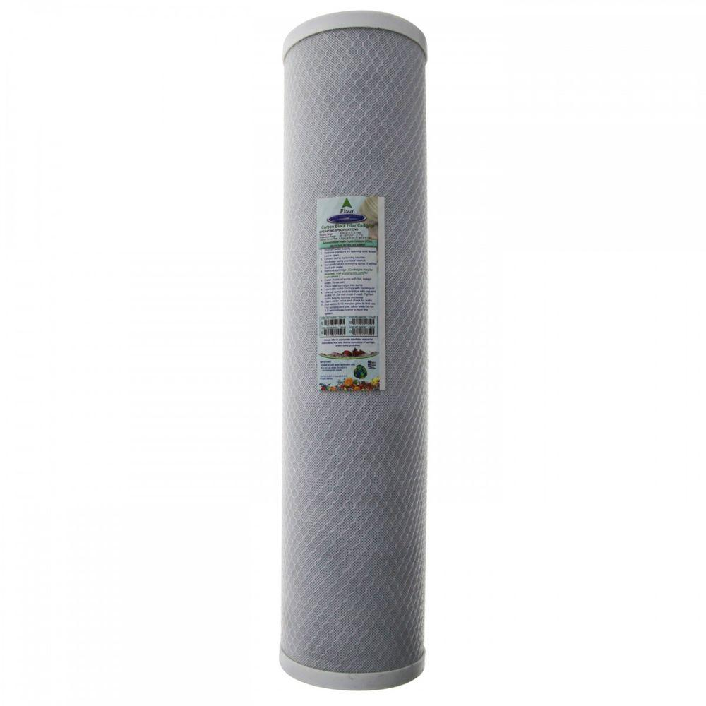 Crystal Quest 20 In X 4 5 8 In Carbon Block Water Filter