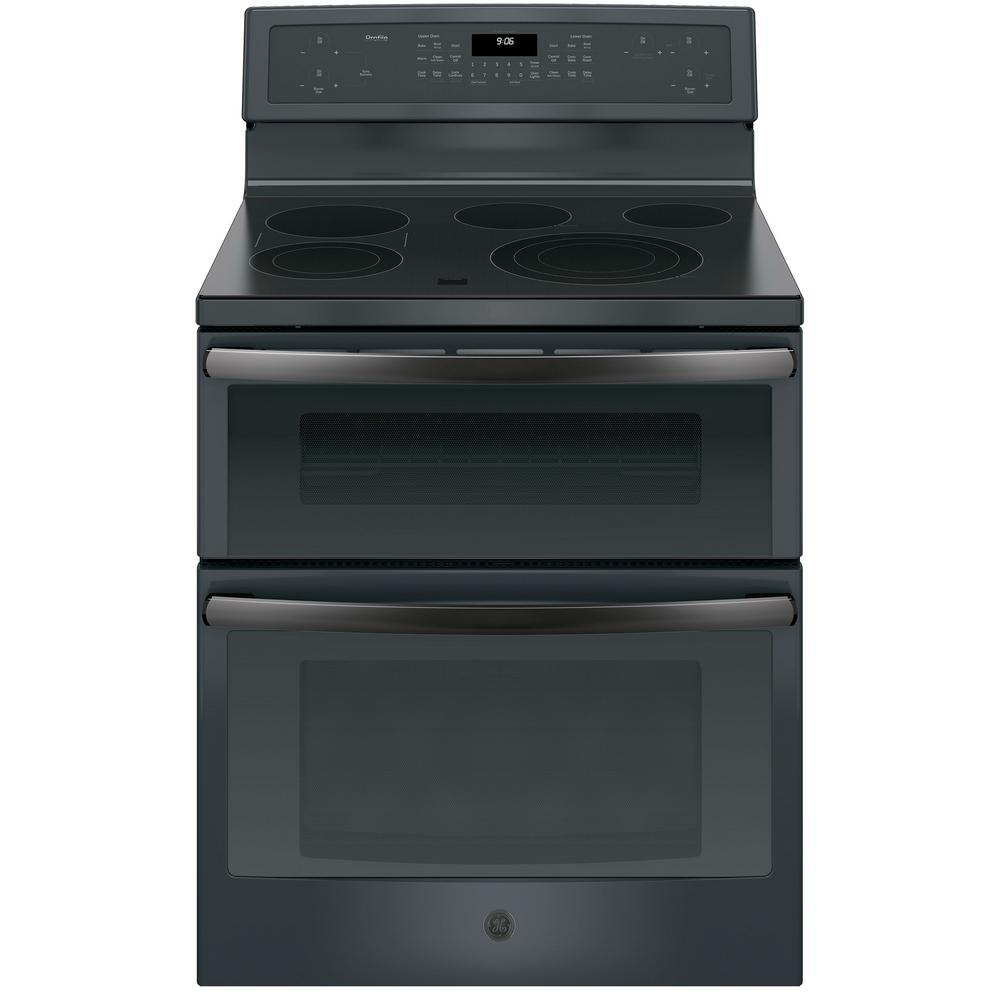 Profile 30 in. Free-Standing Electric Double Oven Convection Range in Black