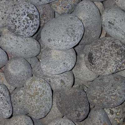 0.50 cu. ft. 40 lb. 1 in. to 2 in. Black Mexican Beach Lava Rock