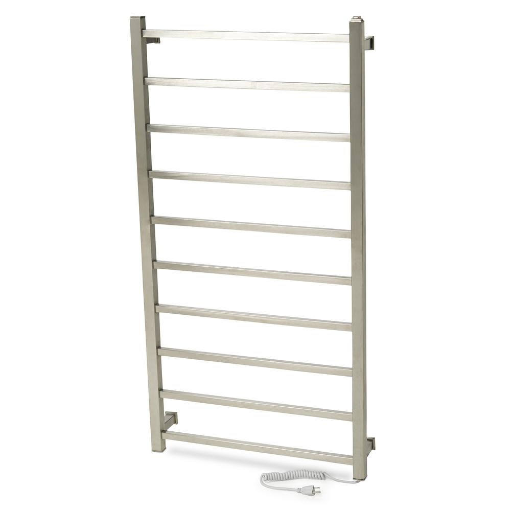 GEM Series 10-Bar Electric Towel Warmer in Bright Chrome