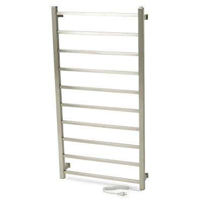 GEM Series 10-Bar Electric Towel Warmer in Matte Chrome