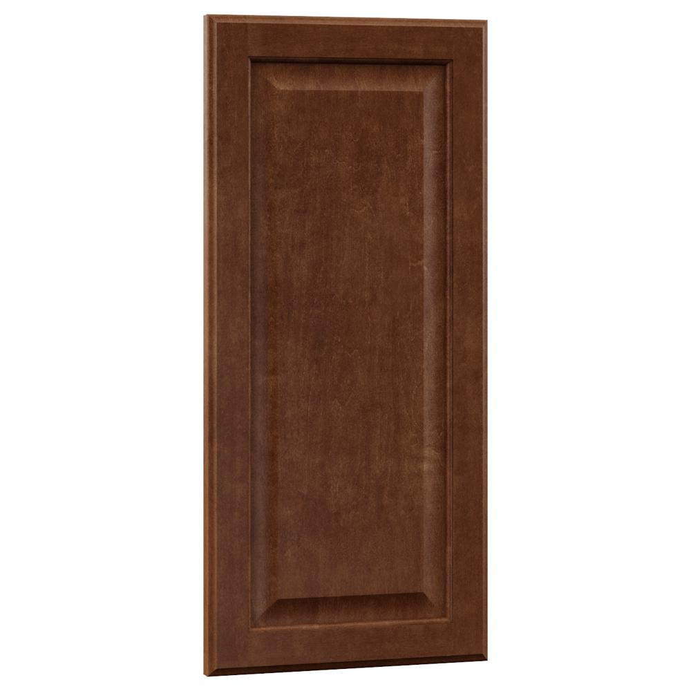 0.625x29.375x15 in. Hampton Wall Cabinet Decorative End Panel in Cognac