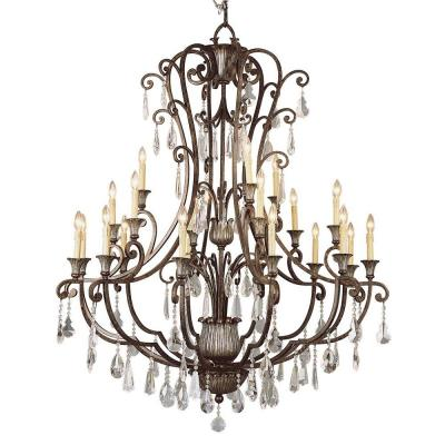 Cabernet Collection 21-Light Antique Bronze Chandelier