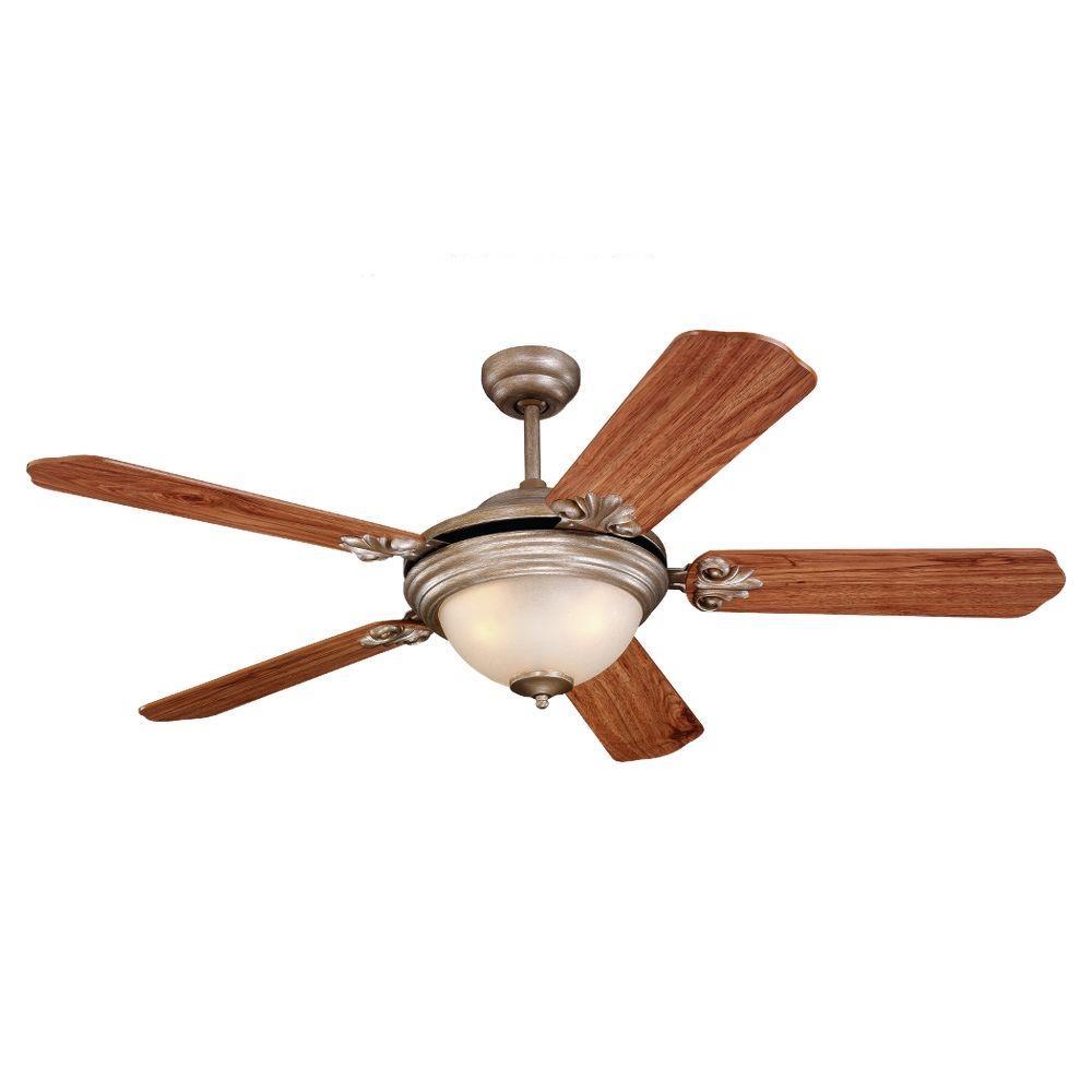 Sea Gull Lighting Highlands 52 in. Indoor Palladium Ceiling Fan